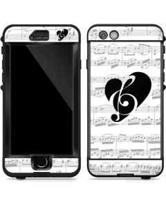 BW Musical Notes LifeProof Nuud iPhone Skin