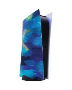 Ocean Blue Brush Stroke PS5 Digital Edition Console Skin