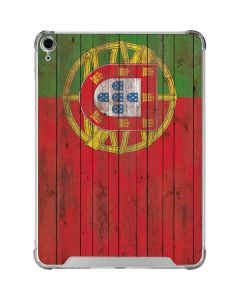 Portuguese Flag Dark Wood iPad Air 10.9in (2020) Clear Case
