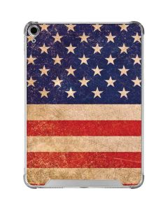 Distressed American Flag iPad Air 10.9in (2020) Clear Case