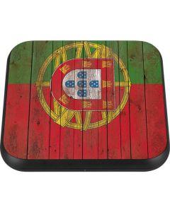 Portuguese Flag Dark Wood Wireless Charger Single Skin