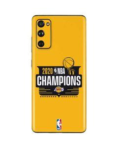 2020 NBA Champions Lakers Galaxy S20 Fan Edition Skin