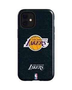 Los Angeles Lakers Black Primary Logo iPhone 12 Mini Case