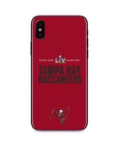 Super Bowl LV Champions Tampa Bay Buccaneers iPhone XS Skin