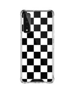 Black and White Checkered LG Stylo 7 5G Clear Case