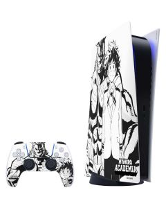 All Might and Deku Black And White PS5 Digital Edition Bundle Skin