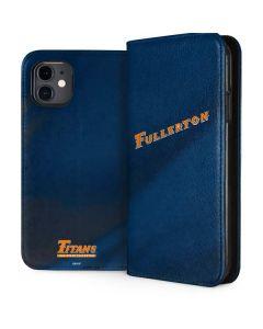 Cal State Fullerton Blue Jersey iPhone 11 Folio Case