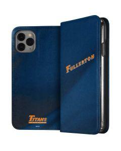 Cal State Fullerton Blue Jersey iPhone 11 Pro Folio Case