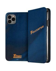 Cal State Fullerton Blue Jersey iPhone 11 Pro Max Folio Case