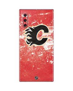 Calgary Flames Frozen Galaxy Note 10 Skin