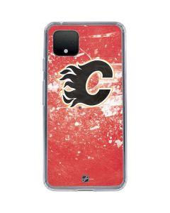 Calgary Flames Frozen Google Pixel 4 XL Clear Case