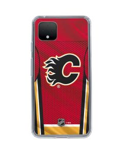 Calgary Flames Home Jersey Google Pixel 4 XL Clear Case