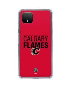 Calgary Flames Lineup Google Pixel 4 XL Clear Case