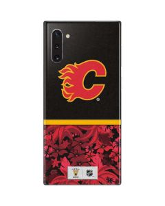 Calgary Flames Retro Tropical Print Galaxy Note 10 Skin