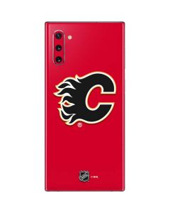 Calgary Flames Solid Background Galaxy Note 10 Skin
