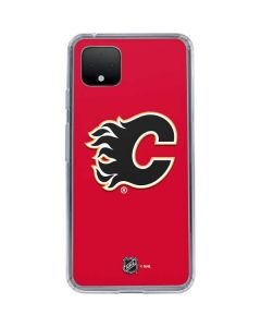 Calgary Flames Solid Background Google Pixel 4 XL Clear Case