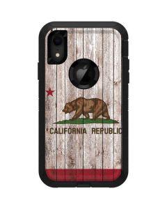 California Flag Dark Wood Otterbox Defender iPhone Skin