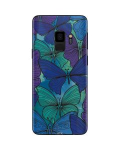 California Watercolor Butterflies Galaxy S9 Skin