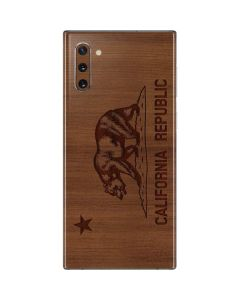 California Wood Flag Galaxy Note 10 Skin