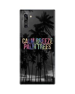 Calm Breeze Palm Trees Galaxy Note 10 Skin