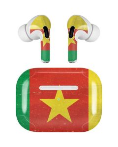 Cameroon Flag Distressed Apple AirPods Pro Skin