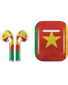Cameroon Flag Distressed Apple AirPods Skin