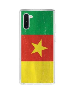 Cameroon Flag Distressed Galaxy Note 10 Clear Case