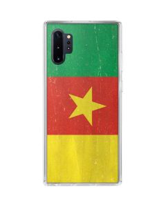 Cameroon Flag Distressed Galaxy Note 10 Plus Clear Case