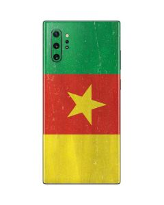 Cameroon Flag Distressed Galaxy Note 10 Plus Skin