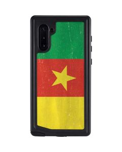 Cameroon Flag Distressed Galaxy Note 10 Waterproof Case