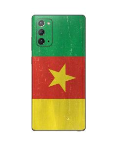 Cameroon Flag Distressed Galaxy Note20 5G Skin