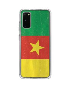 Cameroon Flag Distressed Galaxy S20 Clear Case