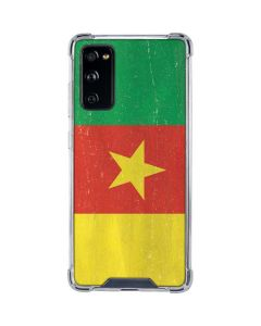 Cameroon Flag Distressed Galaxy S20 FE Clear Case