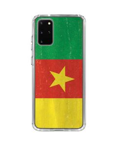 Cameroon Flag Distressed Galaxy S20 Plus Clear Case