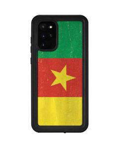 Cameroon Flag Distressed Galaxy S20 Plus Waterproof Case