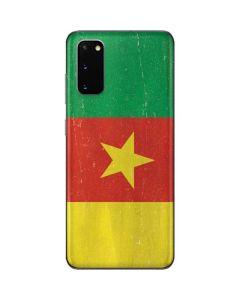 Cameroon Flag Distressed Galaxy S20 Skin