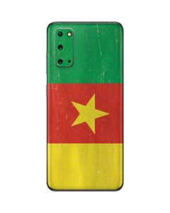 Cameroon Flag Distressed Galaxy S20 Skin