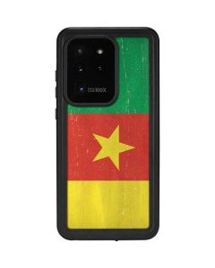 Cameroon Flag Distressed Galaxy S20 Ultra 5G Waterproof Case