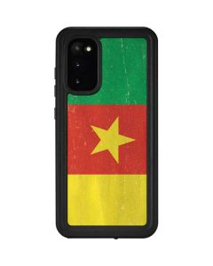 Cameroon Flag Distressed Galaxy S20 Waterproof Case