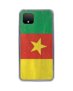 Cameroon Flag Distressed Google Pixel 4 Clear Case