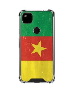 Cameroon Flag Distressed Google Pixel 4a Clear Case