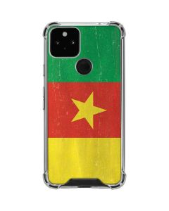 Cameroon Flag Distressed Google Pixel 5 Clear Case