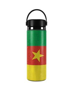 Cameroon Flag Distressed Hydro Flask 20oz Wide Mouth Skin