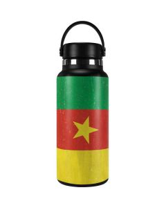 Cameroon Flag Distressed Hydro Flask 32oz Wide Mouth Skin
