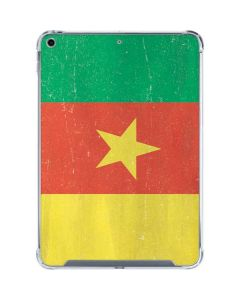 Cameroon Flag Distressed iPad 10.2in (2019-20) Clear Case