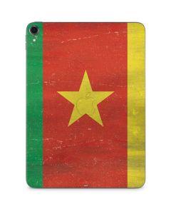 Cameroon Flag Distressed Apple iPad Pro Skin
