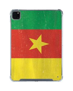Cameroon Flag Distressed iPad Pro 11in (2020) Clear Case