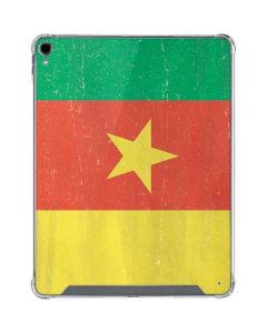 Cameroon Flag Distressed iPad Pro 12.9in (2018-19) Clear Case