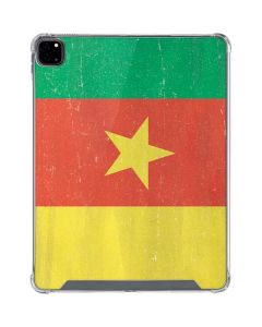 Cameroon Flag Distressed iPad Pro 12.9in (2020) Clear Case