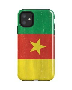 Cameroon Flag Distressed iPhone 11 Impact Case